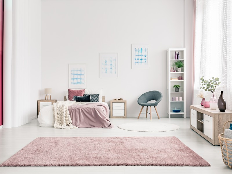 Room design with carpet