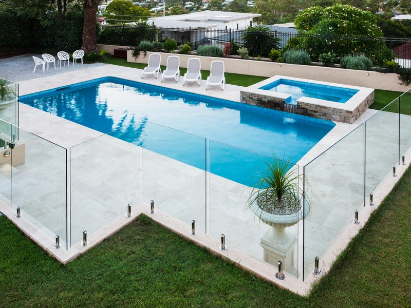 Boundary fence for the pool