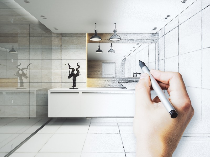Glass shower design